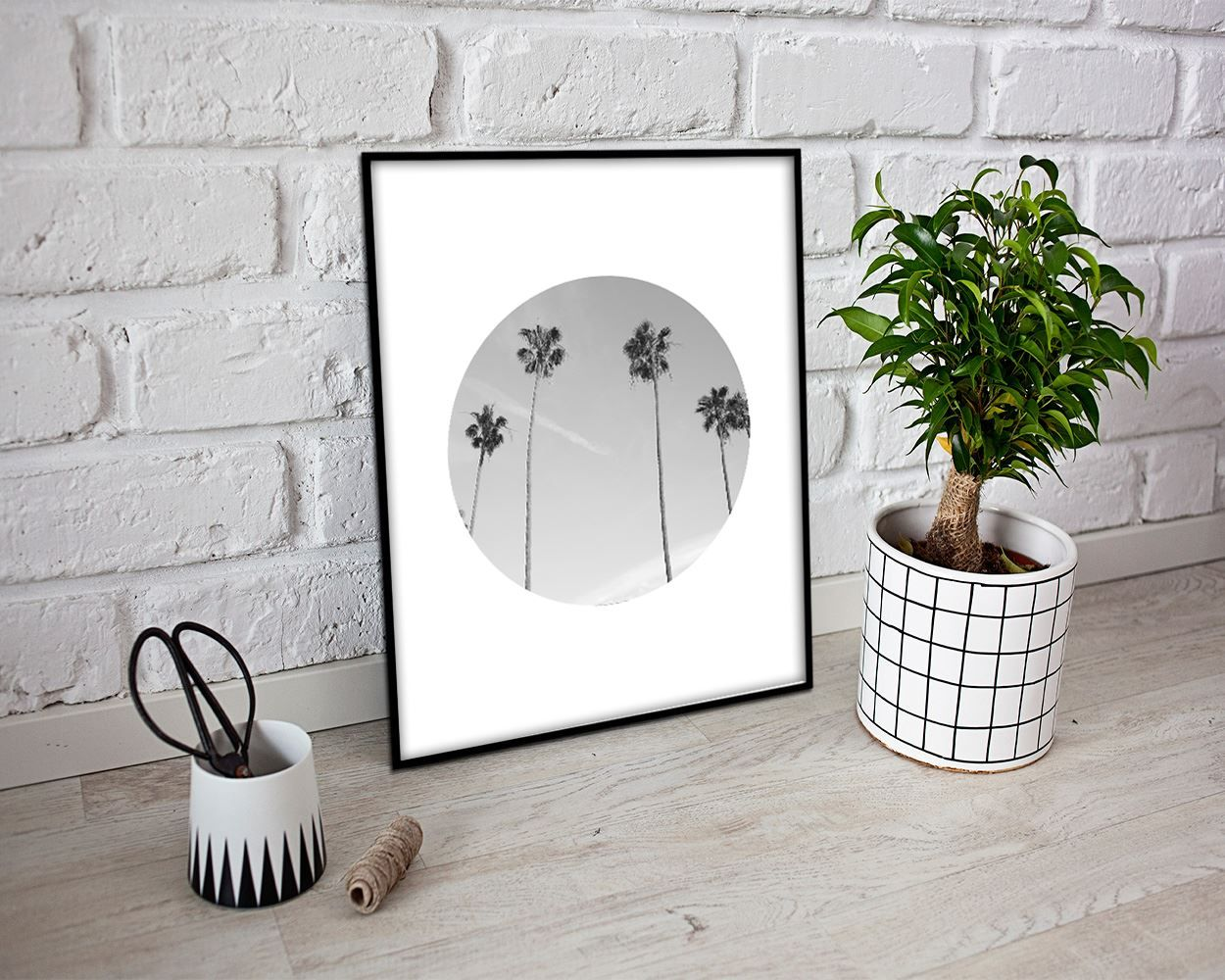 Wall art photography digital print palm poster art photography wall