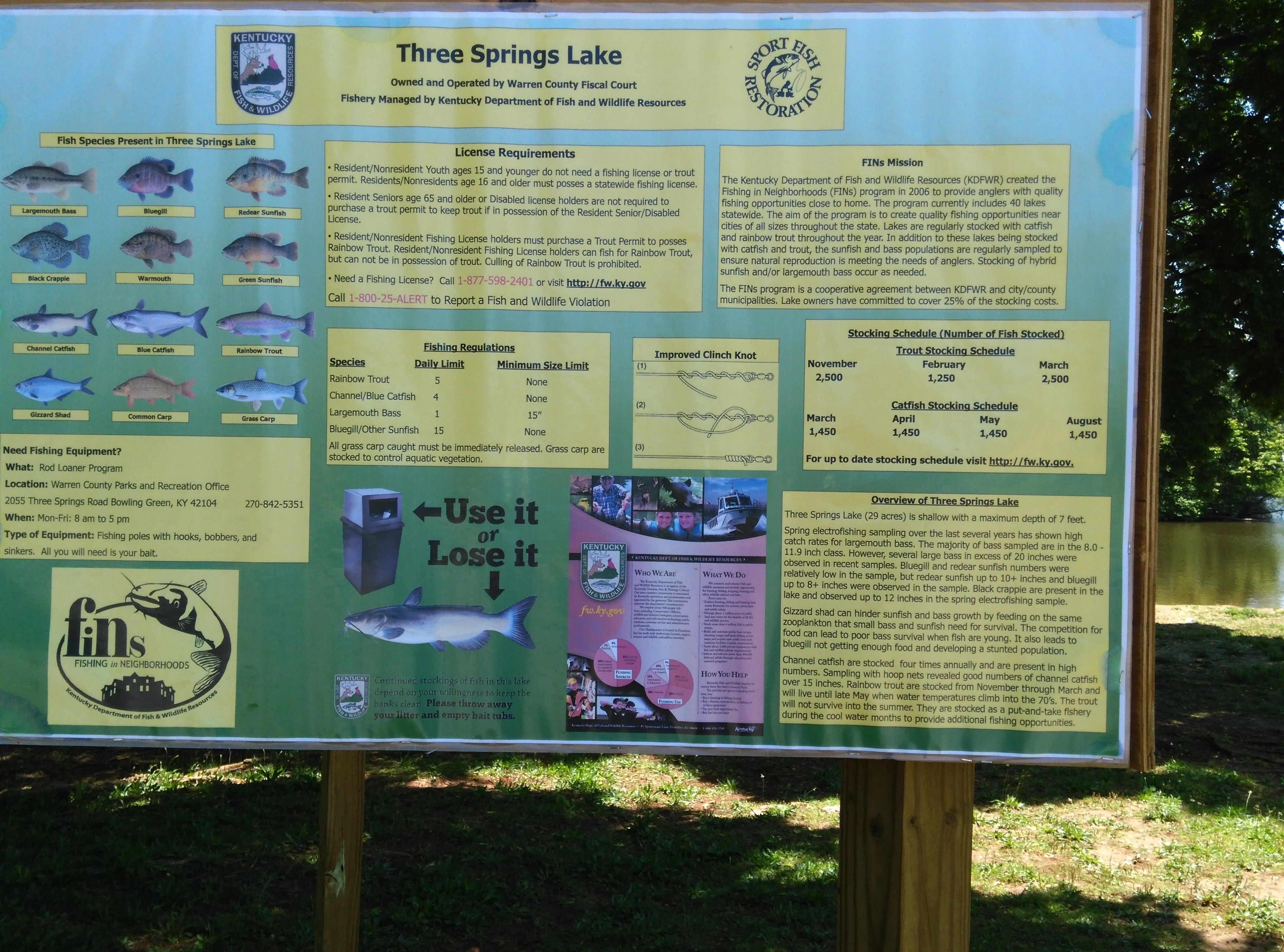 Fishing Regulations In Basin Griffin Park Bowling Green Kentucky This Is Very Close To Hidden River Estates