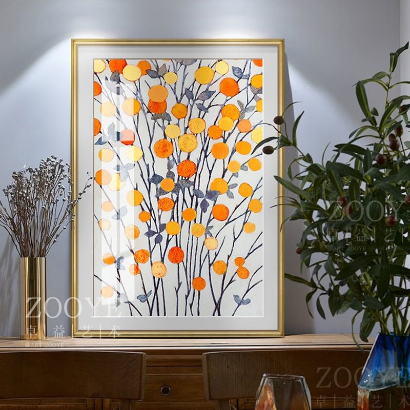 Nordic Decoration Golden Leaf Canvas Abstract Painting Wall Art Poster And Print Decorative Pictures For Living Room Home Decor In 2020 Wall Art Decor Living Room Canvas Art Wall Decor Canvas Decor