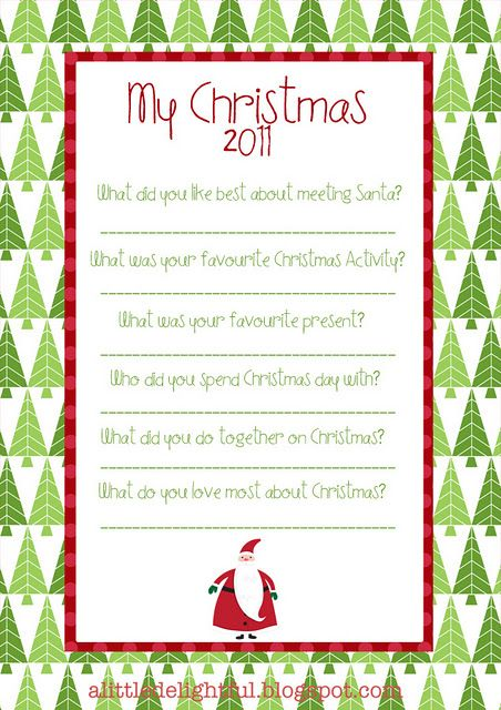 A Few Questions To Ask Your Kids Each Christmas To Remember The