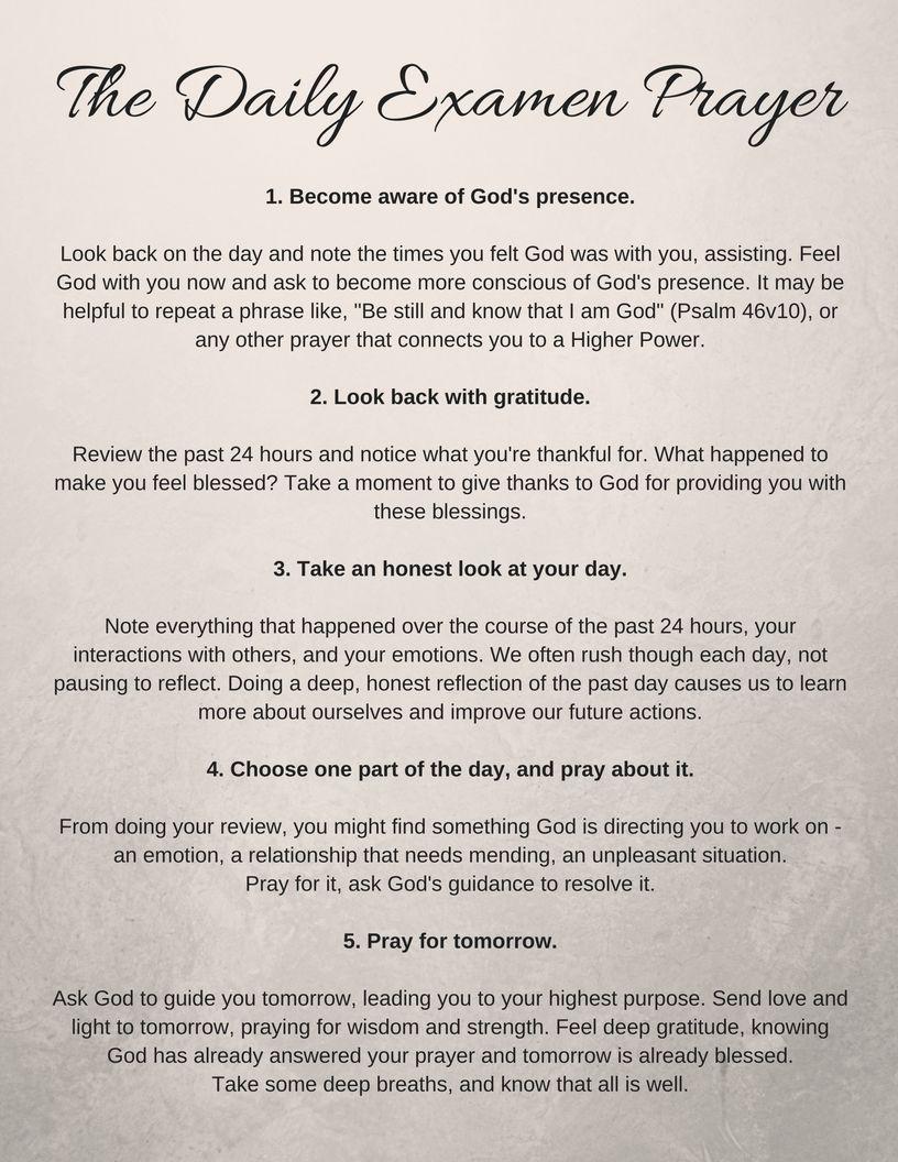 The Daily Examen: A Simple Prayer for Inner Peace & Harmony | Simple ...