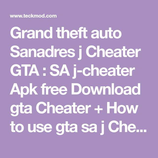 gta sa cheater free download