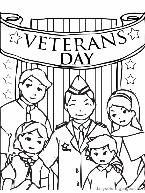 2015 Veterans Day Coloring Pages For Elementary School