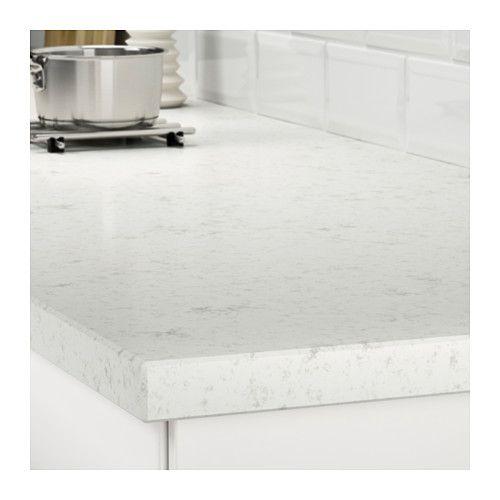 Oxsten Plan De Travail Sur Mesure Blanc Marbre Quartz Plan De Travail Ikea Et Meuble Cuisine