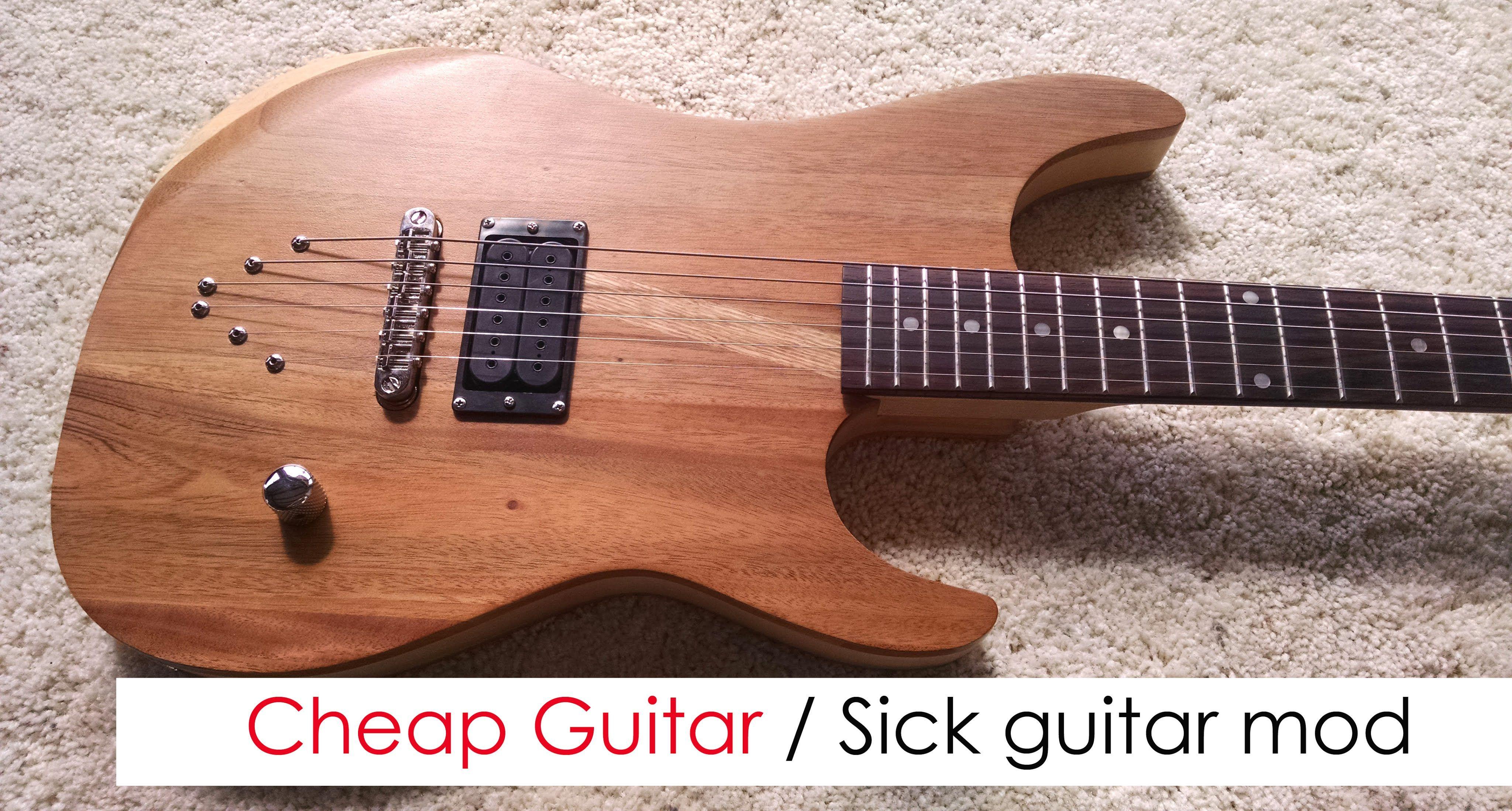 guitar #customguitar Cheap guitar / Sick guitar. Custom guitar mod ...