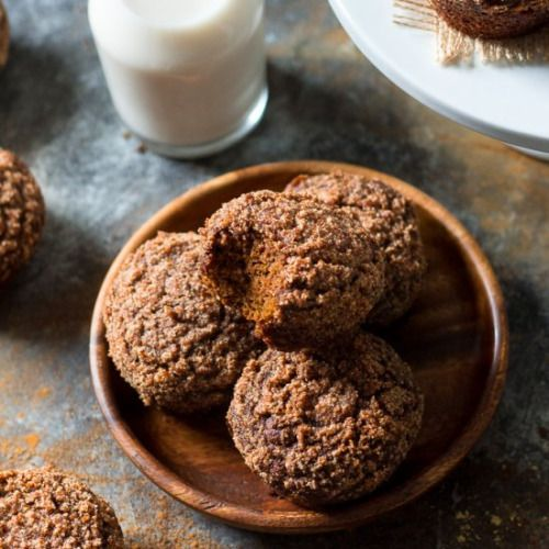 Gingerbread Coffee Cake Muffins-Get your hourly source of sweet...