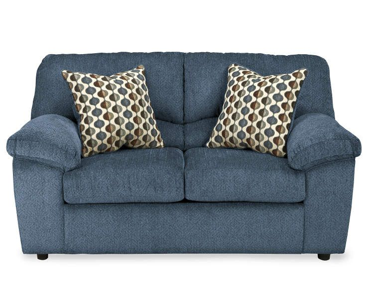 Pleasing Pindall Denim Blue Loveseat In 2019 Sofa Blue Loveseat Camellatalisay Diy Chair Ideas Camellatalisaycom