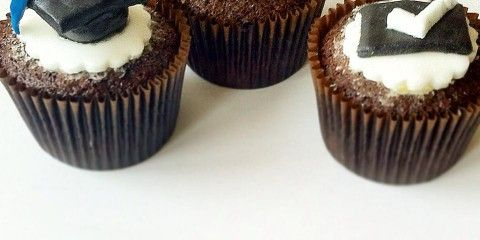 Vegan and Allergen Free Graduation Cupcakes vegan cupcakes vegan