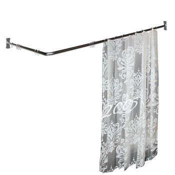 Shower Curtain Rod Bright Chrome 2 Sided 97253 Shop Http