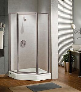 Maax 36 X 36 Silhouette 3 16 Glass Neo Angle Pivot Corner Shower Door Ebay Shower Doors Neo Angle Shower Doors Maax Shower Doors