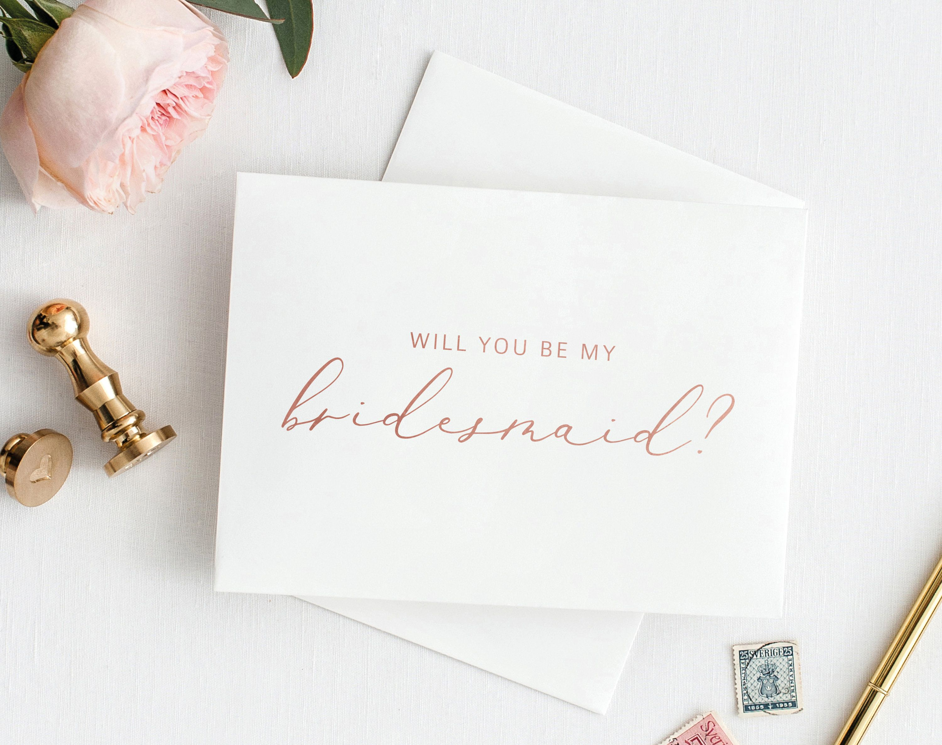 Will You Be My Bridesmaid Card Printable Bridesmaid Card Template Printable Card To Bridesmaid Rose Gold Pdf Instant Download Mm08 2 Wedding Note Cards Be My Bridesmaid Cards Bridesmaid Cards
