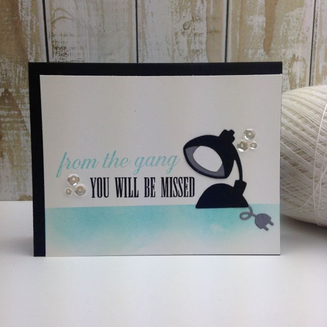 You Will Be Missed card by Teri Anderson for Paper Smooches - Lights Dies, Noteworthy