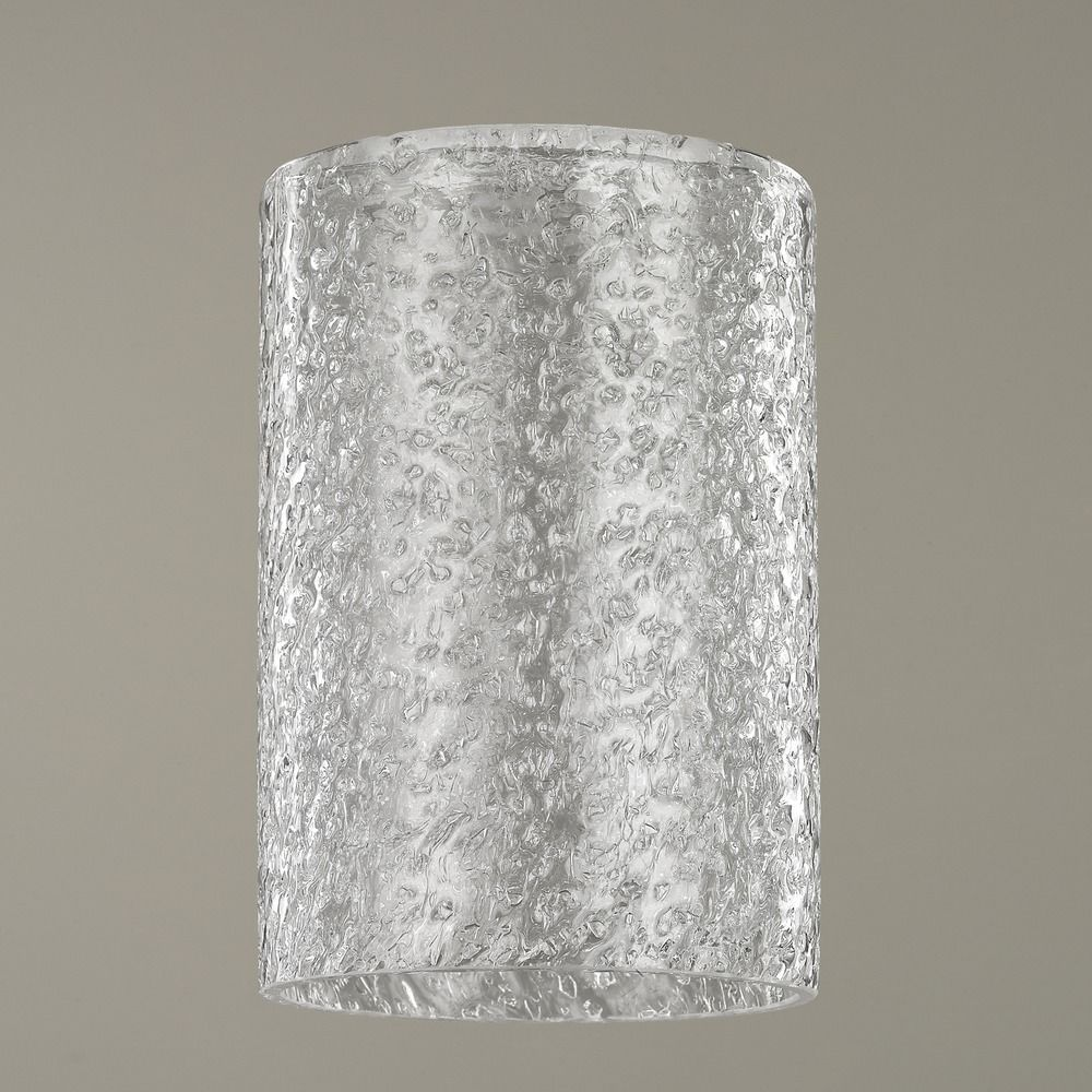 Clear Ice Glass Shade 1 5 8 Inch Fitter At Destination Lighting