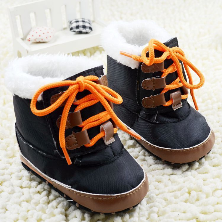 Toddler Baby Boys Snow Boots Winter Crib Shoes Size 0-6 Months ...