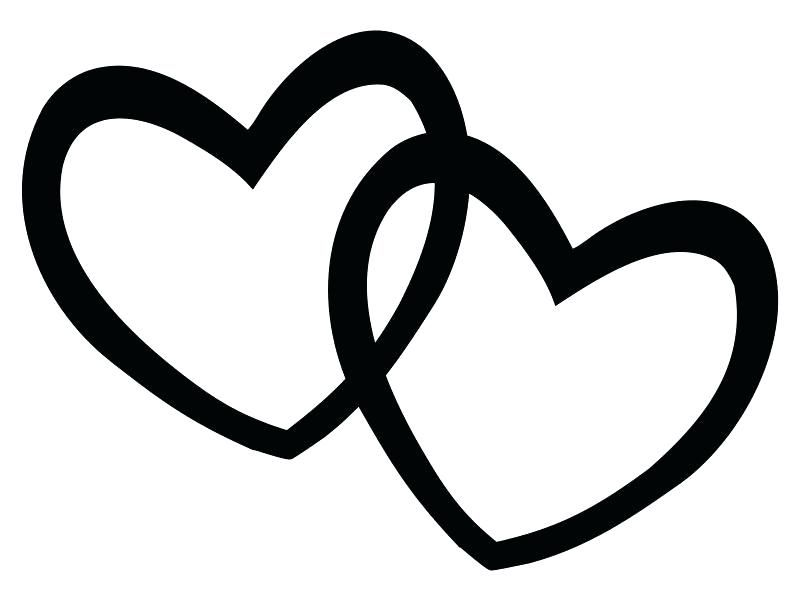 Easy Wedding Hearts Clipart Black And White Pictures Heart Clip Art Black And White Heart Clip Art