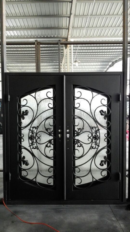 MA Factory outlet USA standard Wrought iron entry doors customized in any size17 | Home u0026 & MA Factory outlet USA standard Wrought iron entry doors customized ...