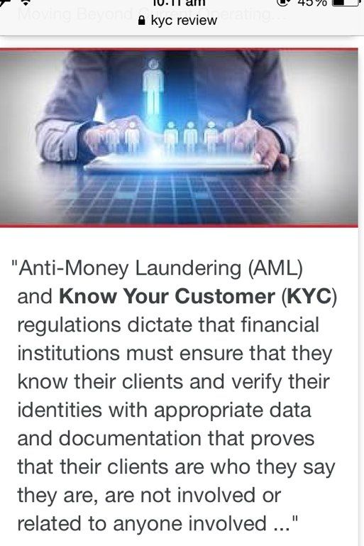 know your customer money laundering
