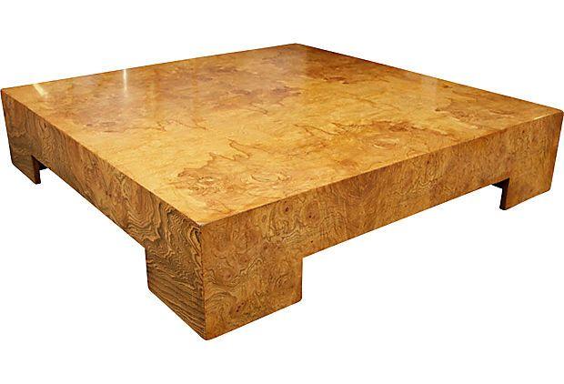 Parsons Style Burlwood Coffee Table Burled Wood Coffee Table Burled Wood Furniture Burled Wood