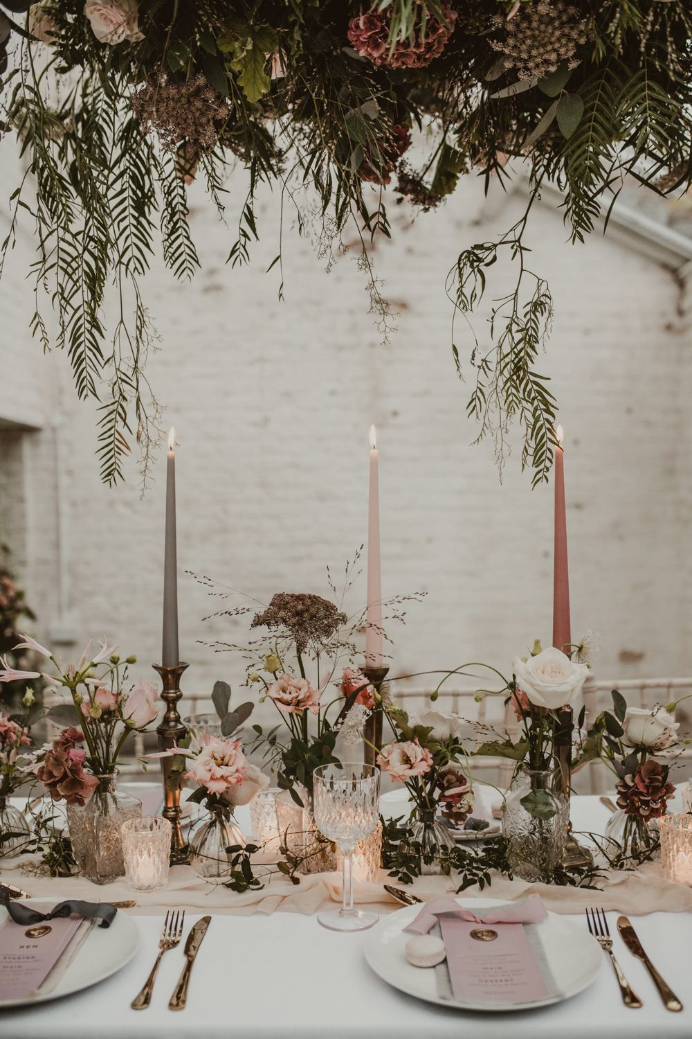 Romantic Pink and Gold Wedding Inspiration in a Modern Summer House
