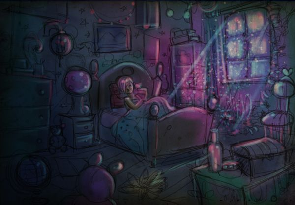 my room by Kubra Aslan, via Behance