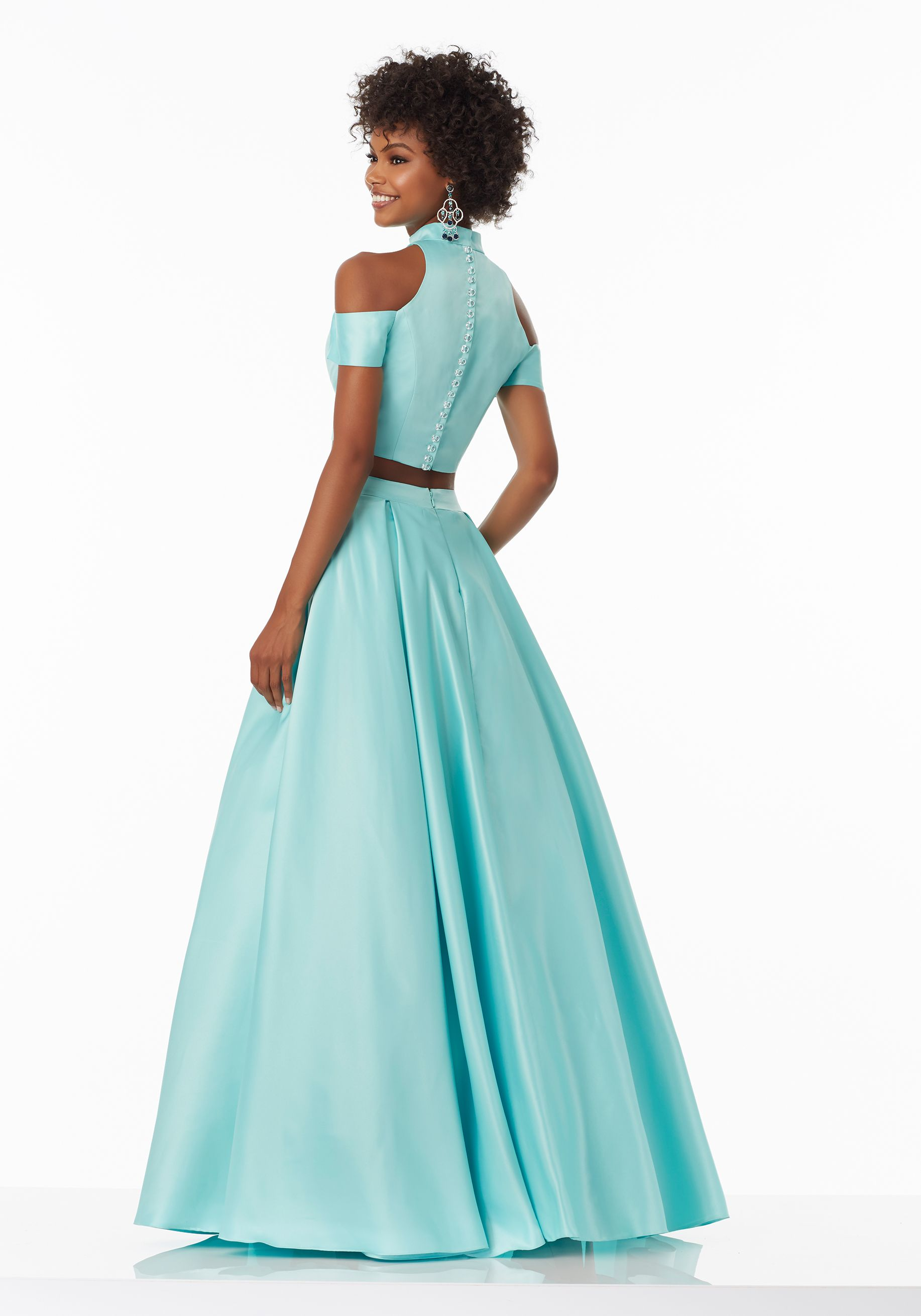 Prom Dresses By Morilee Designed By Madeline Gardner Two Piece Satin Prom Dress With Exposed Shoulders An Beautiful Prom Dresses Prom Dresses Satin Prom Dress [ 2620 x 1834 Pixel ]