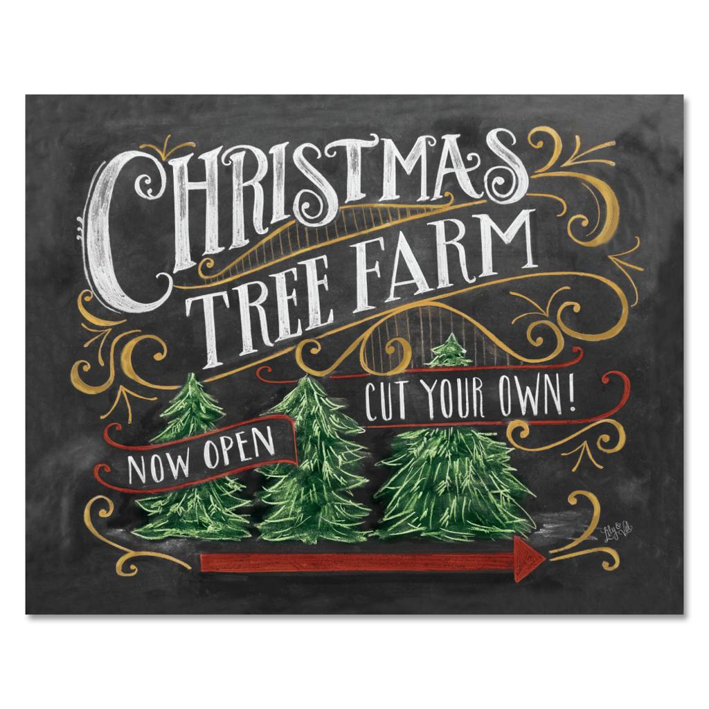 Christmas Tree Farm Print Christmas Chalkboard Christmas Tree Farm Vintage Christmas Decorations