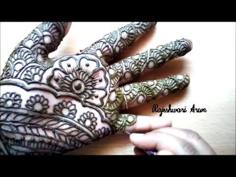 Simple Full Hand Eid Henna Easy And Quick Mehendi Design Youtube
