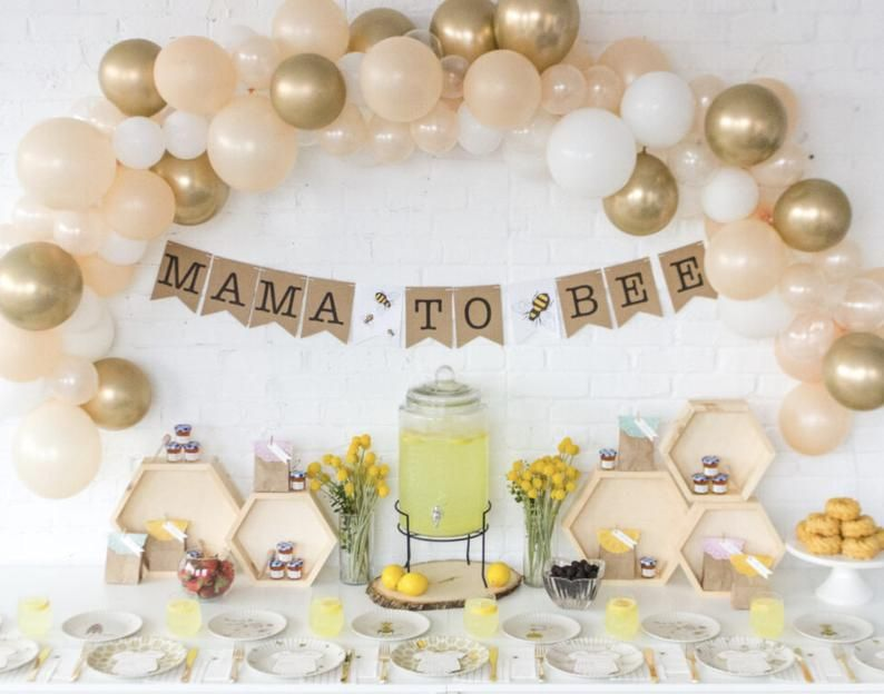 Mama to Bee Hexagons /Bee Theme Baby Shower/Bee Theme Decorations/Mama To Bee Banner/Balloon Garland Kit/Balloon Arch Kit/Bee Balloon