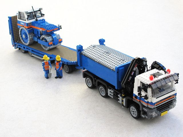 KWS GINAF with trailer and road roller (1)   Flickr - Photo Sharing!