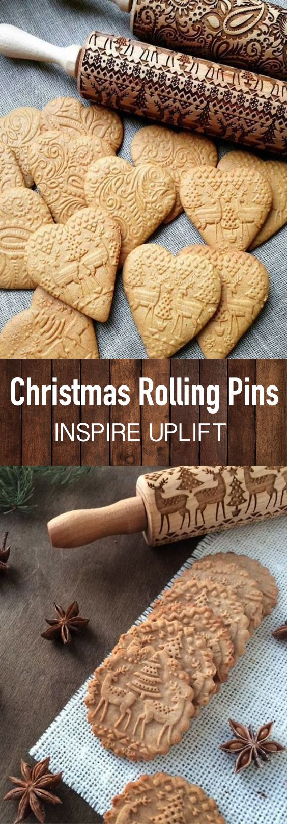 Christmas 3D Rolling Pin | Christmas baking, Christmas cooking