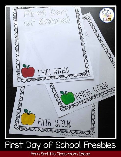 fern's freebie friday ~ back to school first day and last