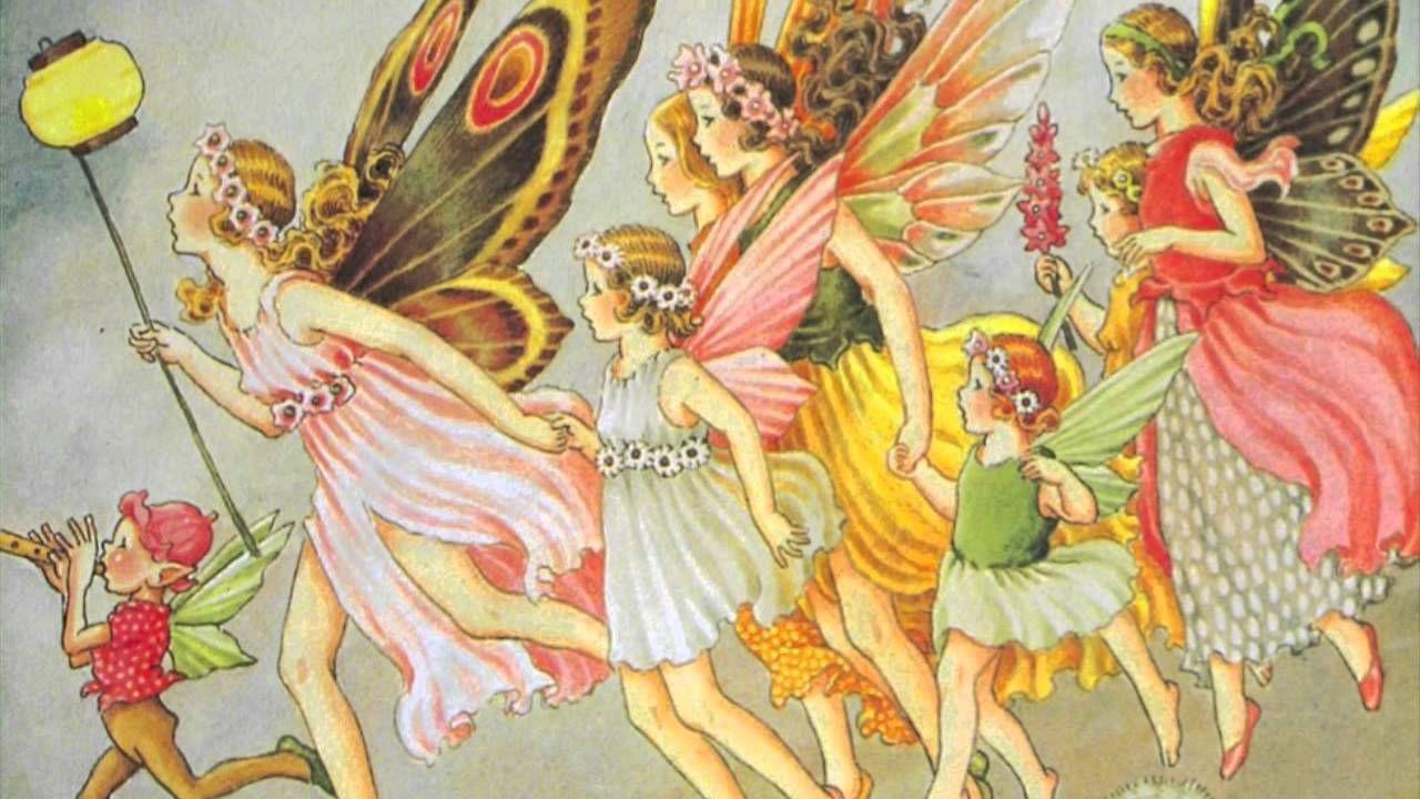 Colorful Vintage Public Domain Fairies Illustration Free Vintage Illustrations Fairy Illustration Vintage Illustration Public Domain Images Vintage