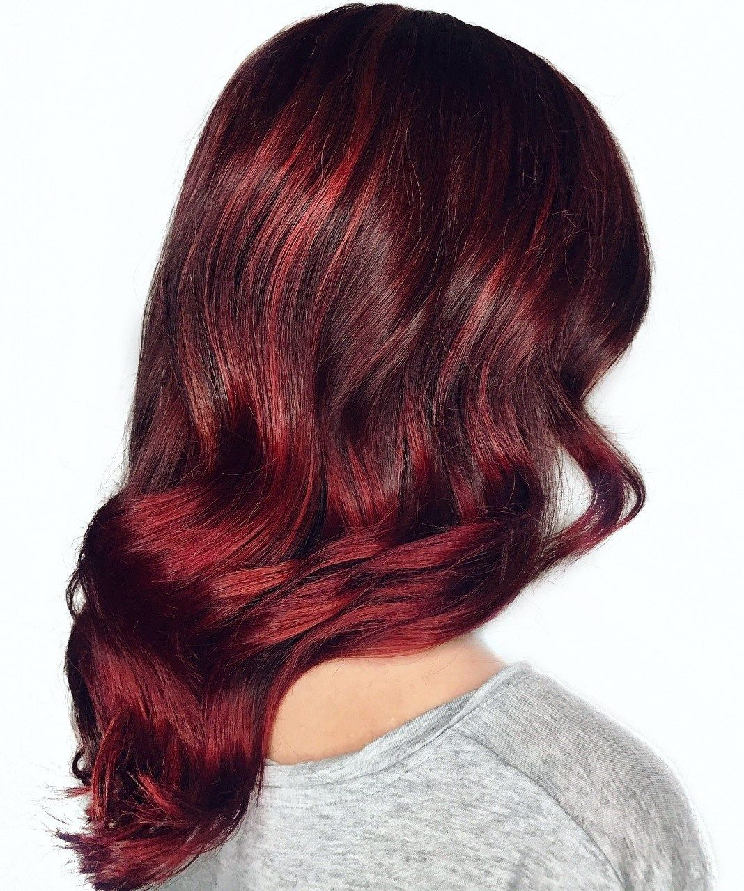 45 Shades Of Burgundy Hair Dark Burgundy Maroon Burgundy With Red Purple And Brown Highlights Burgundy Hair Hair Color Burgundy Red Violet Hair