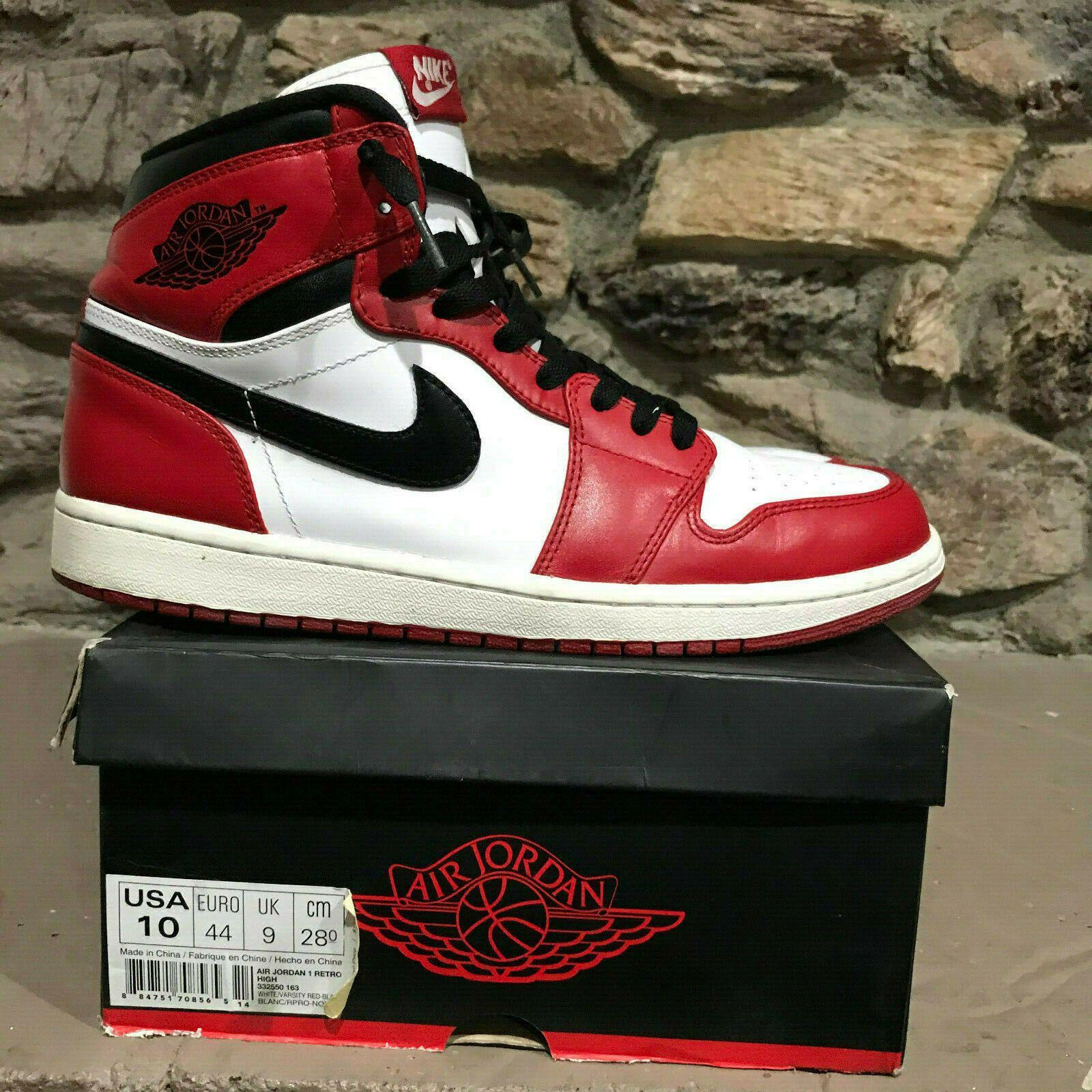 """size 40 35496 a649c Nike Air Jordan 1 Retro High OG """"CHICAGO"""" RED 2013 Men's ..."""