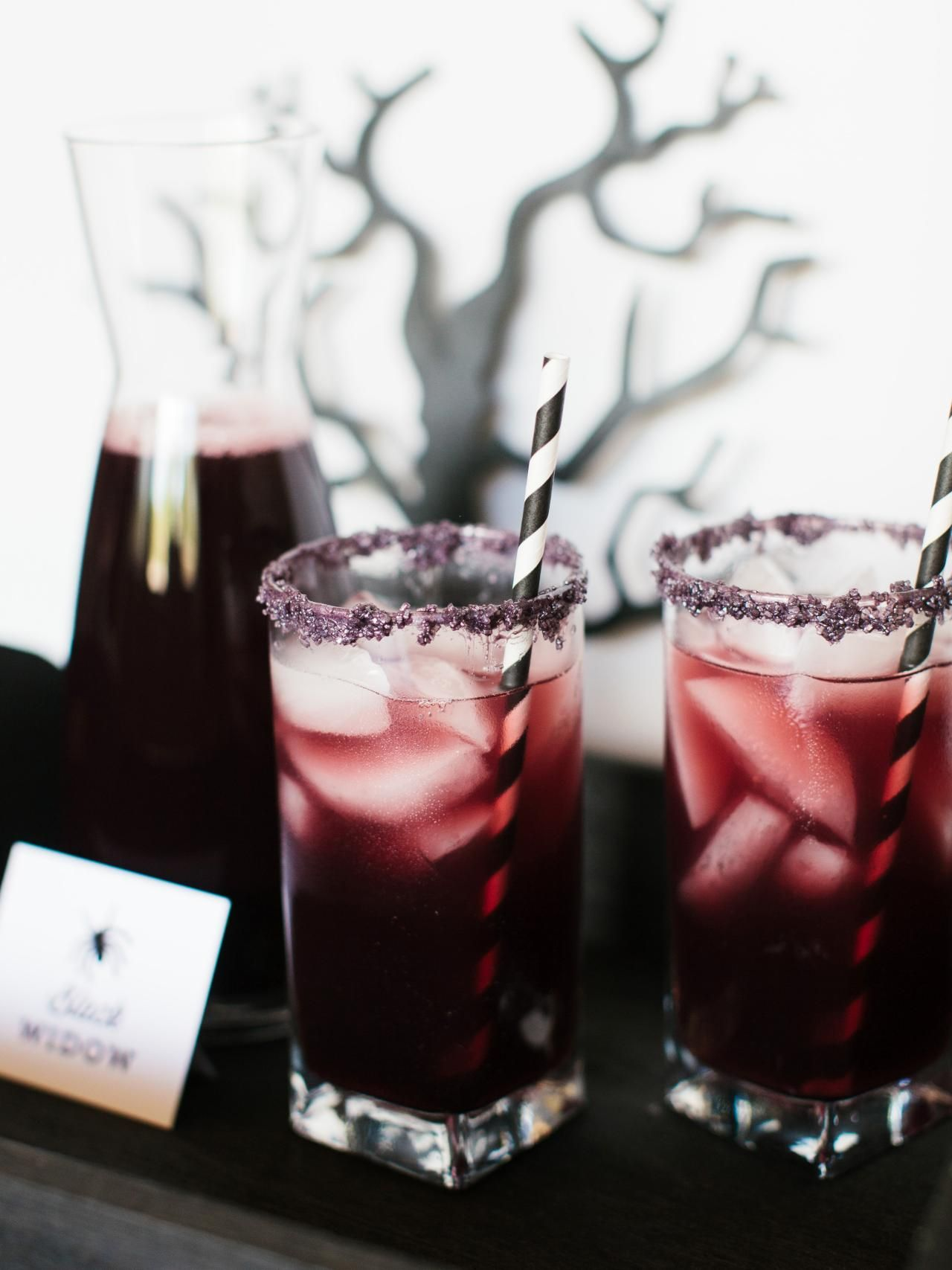 Halloween Drink Recipes | Black widow, Serving ideas and Deep ...
