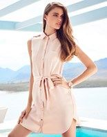 Lipsy Sleeveless Shirt Dress