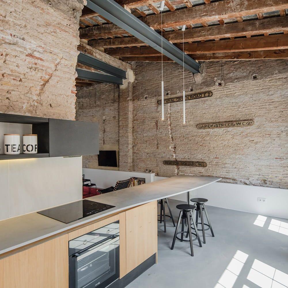 Exposed Brick Walls Apartment by Roberto di Donato