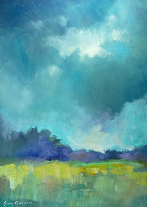 Efgart Landscape Painting Art Cool Colors Green Blue A Little Too Abstract But Still Pretty Landscape Art Abstract Landscape Painting Landscape Paintings