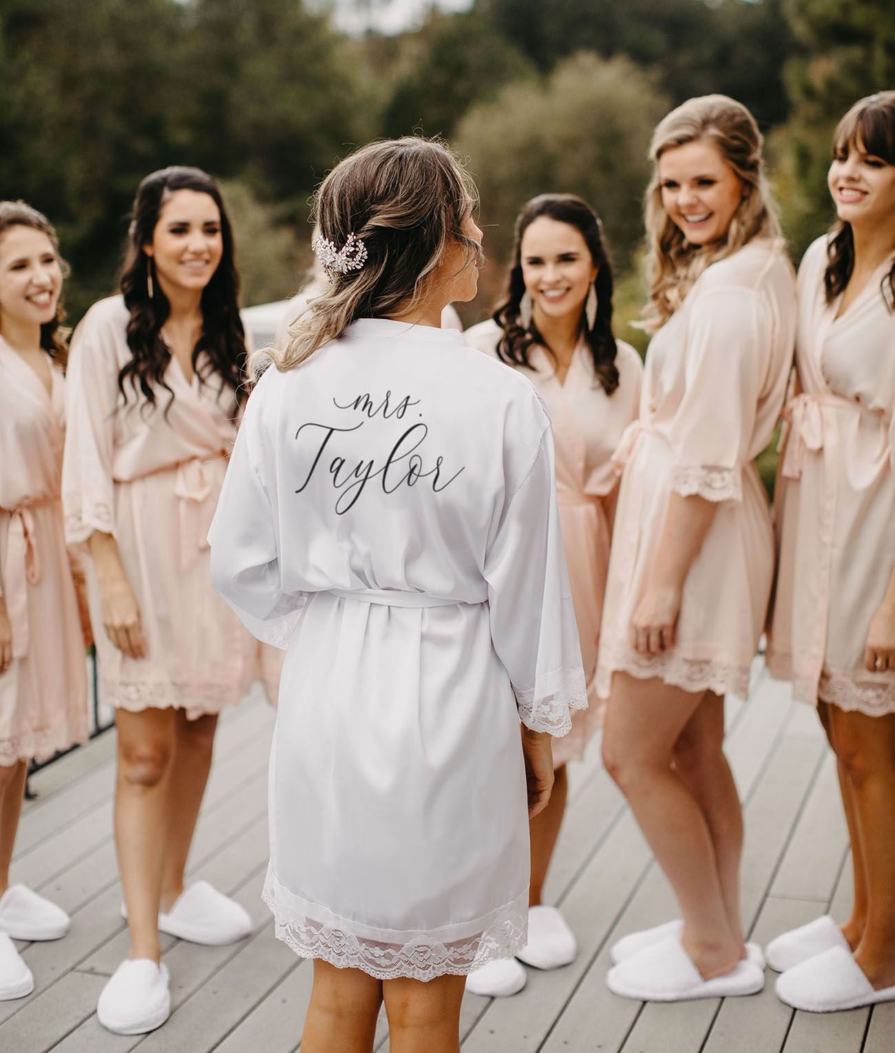 Bridesmaids Getting Ready Robes From Wedding Favorites Bridesmaid Get Ready Outfit Bridal Party Getting Ready Morning Wedding