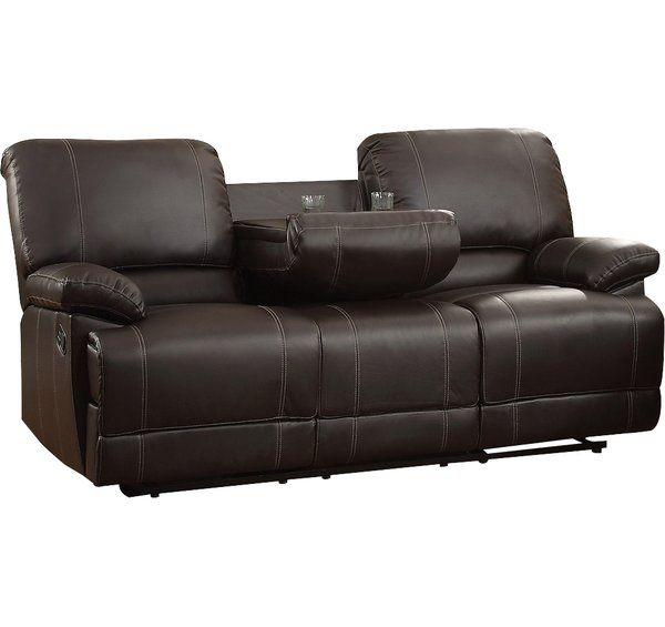 Edgar Reclining 81 Pillow Top Arm Sofa Reclining Sofa Leather Reclining Sofa Sofa