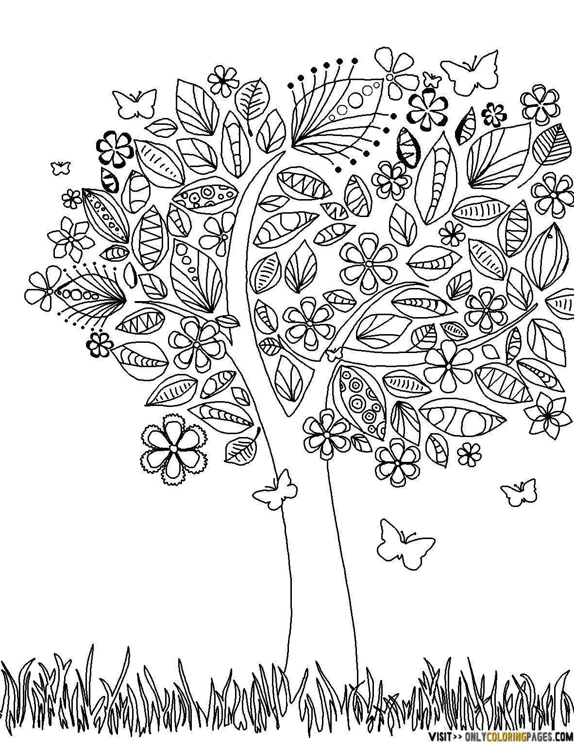 coloring pages of flowers for teenagers difficult 03 | Free ...