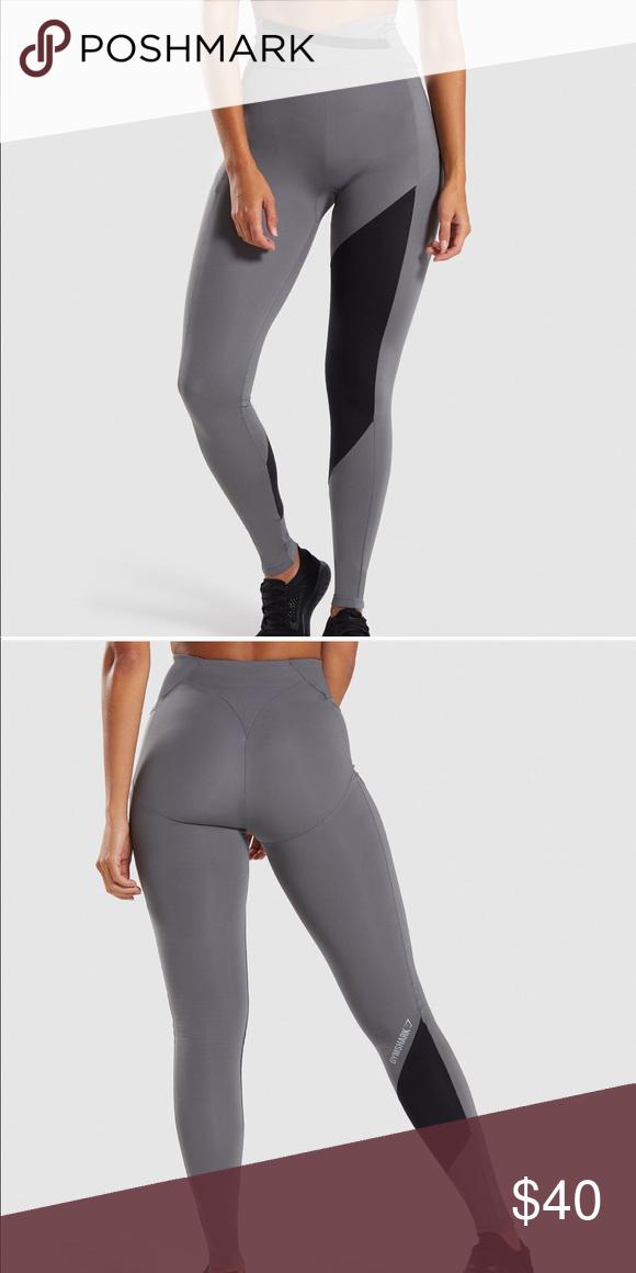 aba05f47fc940 Gymshark Asymmetric Smokey grey/black leggings Worn once, Squat proof  Gymshark Pants Leggings