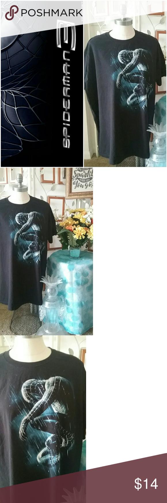 Spider Man 3 Graphic T Shirt Fans Of Black Suit Spider Man Black Spidy Sitting In The Rain Graphic Very Good Use Clothes Design Fashion Men S Graphic T Shirt