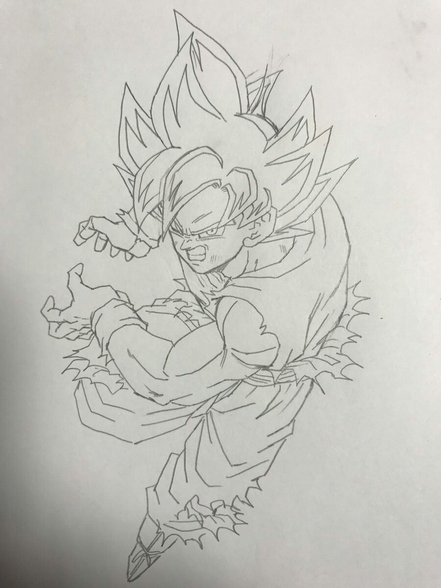 Dibujo De Son Goku Dessin Dbz Coloriage Dragon Ball Dessin Goku