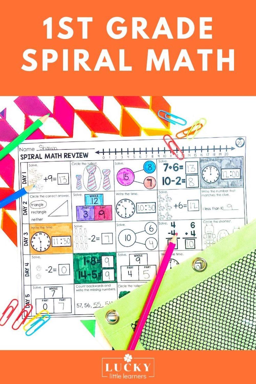 1st Grade Digital Printable Spiral Math Review Math Review Spiral Math Math Spiral Review [ 1500 x 1000 Pixel ]