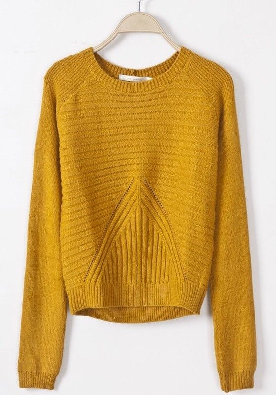 Yellow Geometric Slim Pullover | Pullover, Clothes and Wardrobes