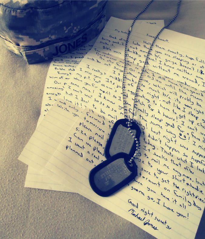 my letters, my lifesaver <3   Jones   Military love, Army