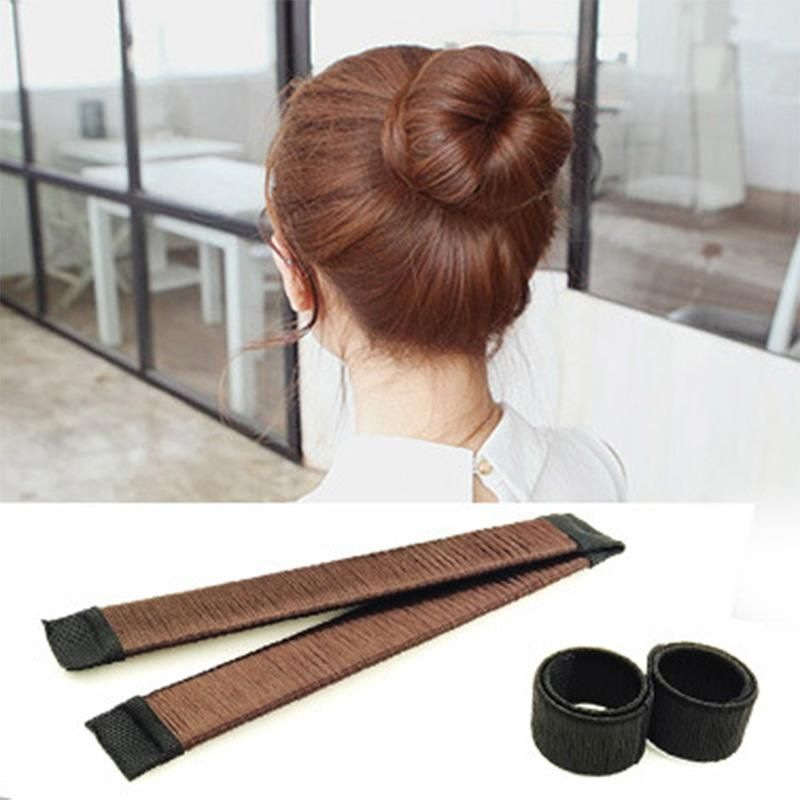 1pc Women Magic Sweet Dish Diy Hairstyle Tool Quick Bun Maker Bud