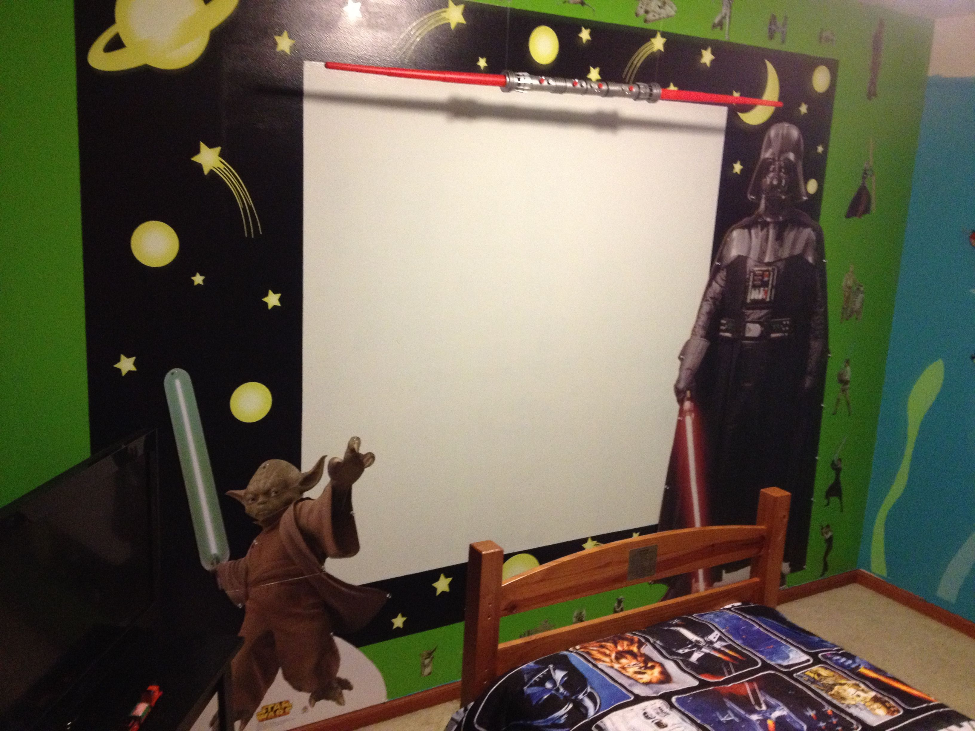Movie Themed Bedroom Star Wars Themed Bedroom Behr Paint In Appletini Green Space