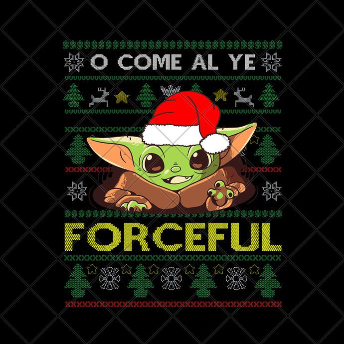 Baby yoda christmas, Baby Yoda svg, Baby Yoda vector, Baby